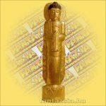 Buddha álló arany A