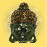 Buddha maszk zöld színű 20cm
