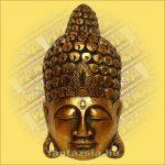 Maszk Buddha arany 40cm