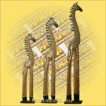 Zebra figura fa álló 120cm