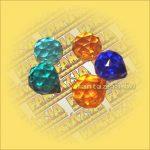 Feng Shui Kristálygömb színes 20mm