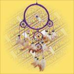 Álomfogó (álomőrző) lila 16 cm