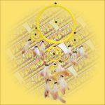 Álomfogó (álomőrző) sárga 16cm