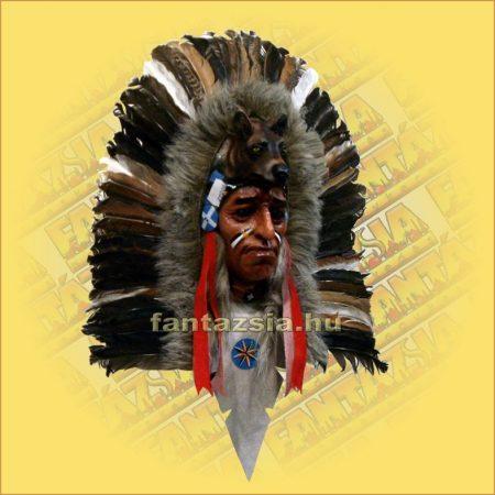 Indián maszk tollas  B