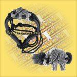 Karkötő bőrből elefánt díszítéssel B