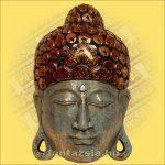 Maszk Buddha kék 40cm