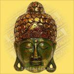 Maszk Buddha zöld 40cm