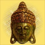 Buddha maszk zöld színű 30cm