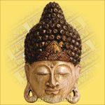 Buddha maszk fehér színű 50cm