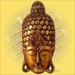 Buddha maszk arany színű 60 cm