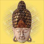 Buddha maszk fehér színű 60 cm