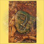 Buddha falikép zöld