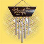 Szélcsengő Bambusz/Gekkó mintával/Öt csővel