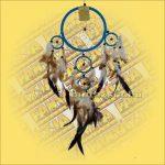 Álomfogó-Álomőrző-Álomcsapda világoskék 17cm