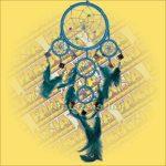 Álomőrző,Álomcsapda,Álomfogó tükrös világoskék 11cm