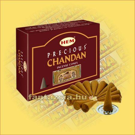 Indiai Szantál Illatú Kúpfüstölő / HEM Precious Chandan