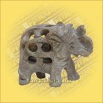 Elefánt Zsírkőből Áttört ,Kicsi