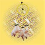 Álomfogó (álomőrző) sárga 6cm