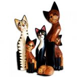 Macska figurák-szobrok