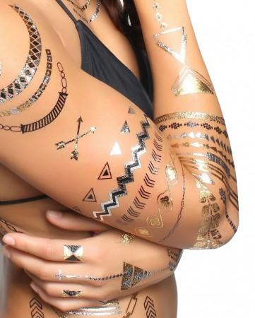 Arany tetoválás - fényes,fém tetoválás