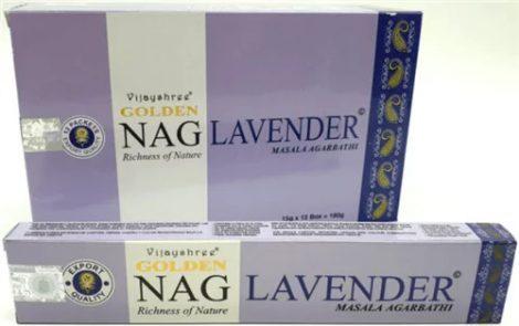 Golden Nag Lavander-Levendula Masala Füstölő