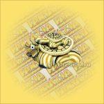 Teknősök Hűtőmágnes-Sárga