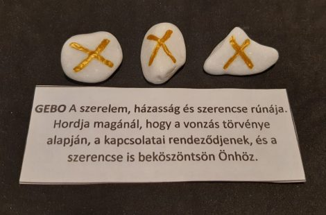 GEBO-Rúna talizmán-görög márvány