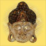 Buddha maszk fehér színű 20cm