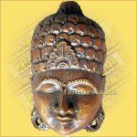 Buddha maszk bordó színű 20cm