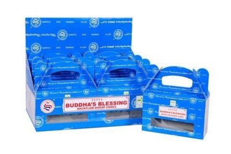 Satya Backflow-Buddha Blessing-Kúpfüstölő