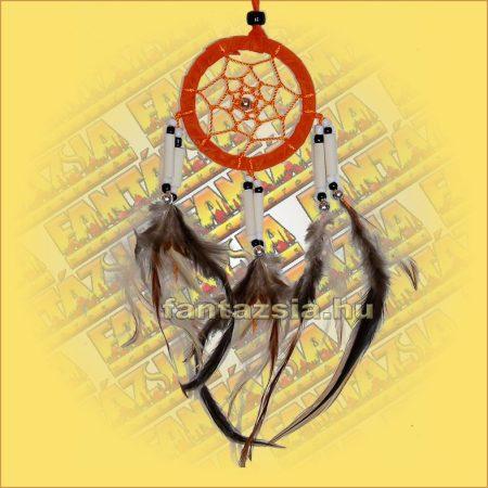 Álomfogó-Álomcsapda-Álomőrző velúr narancssárga 6cm