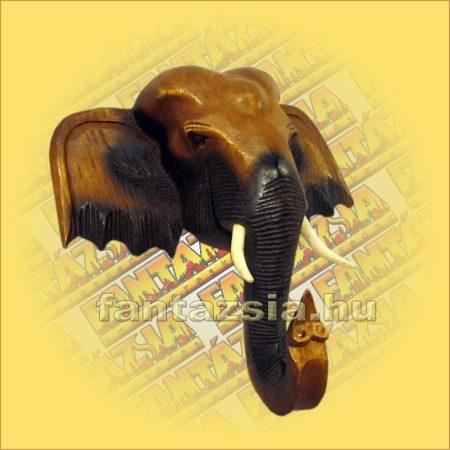 Elefántfej fa 20cm