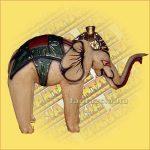 Elefánt színes fa 22cm