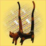 Macska hosszú farkú/gyűrűtartó A