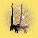 Macska hosszú farkú/gyűrűtartó B