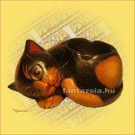 Macska fekvő hamutartó