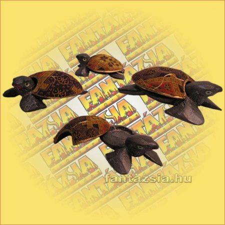 Teknős hamutartó aboriginal közepes B