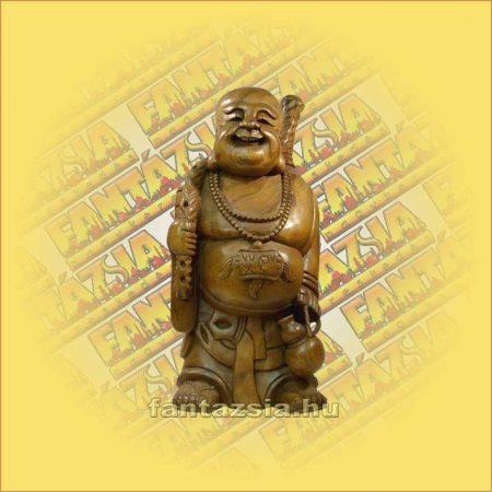Buddha álló natur/festett 30cm