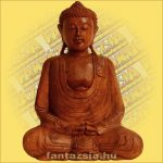 Buddha szobor ülő 40cm A
