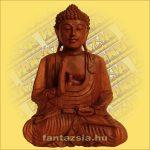 Buddha szobor ülő 30cm