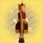 Buddha alló/festett A