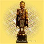 Buddha álló arany B