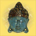 Buddha maszk kék színű 20cm
