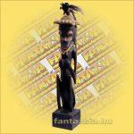 Primitív törzsi faragvány/Asmat figura ülő