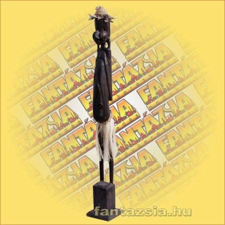 Primitív törzsi faragvány/Asmat figura faragott