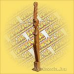 Primitív törzsi faragvány/Asmat Janggar figura lány barna