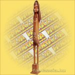 Primitív törzsi faragvány/Asmat figura álló barna B