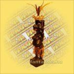 Primitív törzsi faragvány/Asmat figura lány