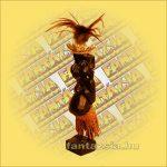 Primitív törzsi faragvány/Asmat figura fiu