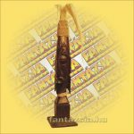 Primitív törzsi faragvány/Asmat figura rudal kicsi